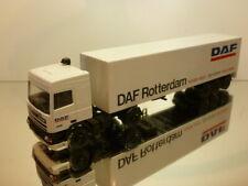 LION CAR 95 350 ATI TRUCK + TRAILER DAF ROTTERDAM - WHITE 1:50 - EXCELLENT