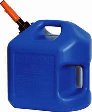CASE OF 4, 5 GALLON BLUE PLASTIC EPA COMPLIANT POLY KEROSENE FUEL CONTAINER 7600