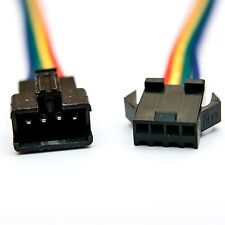 10x JST-SM 4-Pin (4P) Connector Pairs (4M & 4F); WS2801 LPD8806 Addressable LED