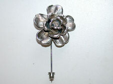 Beautiful Vintage Sterling Silver 925 Flower Stick Pin-Unisex