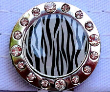 Zebra Stripes Ball Marker with Crystals - Package of 2