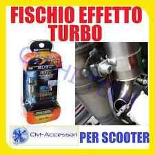 NEW! FISCHIO SCARICO EFFETTO SOUND MARMITTA TURBO TURBINA UNIVERSALE PER SCOOTER