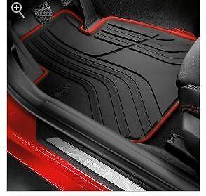 BMW F30 320i 328i 330i 2012-2018 Rubber Floor mats Black Red Front 51472219800