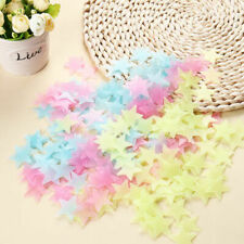 Multiple Color 100PCS 3D Home Wall Ceiling Glow In The Dark Stars Room Stickers