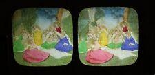 Pique-nique champêtre Scène de genre Stéréo Diorama Tissue Vintage Albumine