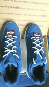 NEW Ryka Canvas Lace-Up Walking Sneakers - Catalyst Blue - 9 W Euro 40