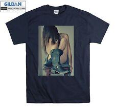 Sexy Naked Boots T-shirt Girl On Chair T shirt Men Women Unisex Tshirt 1581