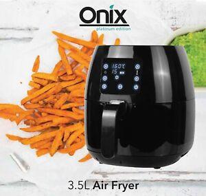 ONIX 3.5L AIR FRYER DIGITAL CONTROL NON STICK PAN 8 PRESET COOKING PROGRAMS