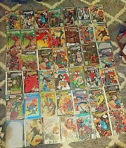 *45* Vintage 1990s MODERN SPIDERMAN MARVEL COMICS COMIC BOOK LOT SLEEVED BOARDED