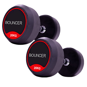 Dumbbells Rubber Weight 2.5kg 5kg 10kg 20kg Premium Heavy GYM Exercise Iron Pair