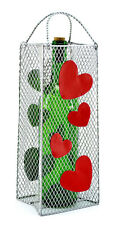 Wine Gift Bag Bottle Holder Accented with Red Hearts Everlasting Gift Bag