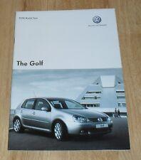 Volkswagen VW Golf Mk5 Brochure 2005-2006 1.4 1.6 1.9 TDI SE 2.0 GT TDI 140 GTI
