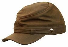 ROOSTER WAXED COTTON CIVIL WAR KEPI CAP MILITARY HAT ARMY CADET HUNTING BLACK