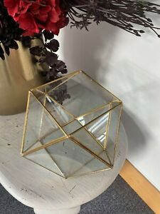Bloomingville Glass Brass Terrarium
