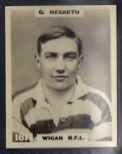 PINNACE FOOTBALL-PINNACE BACK-#1817- RUGBY - WIGAN RFL - G. HESKETH