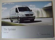 Mercedes . Sprinter . The Sprinter Panel Van . September 2010 Sales Brochure