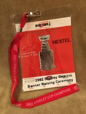 DETROIT RED WINGS 2002 STANLEY CUP BANNER RAISING COMMEMORATIVE TICKET LANYARD