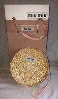 Miu Miu Wristlet /Clutch/Pouch With  Matching Gift Bag & Box