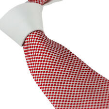 Coachella Ties White Knot Contrast Red White Polka Dot Necktie Formal Men's Tie