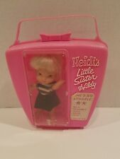 1960s Remco Pocketbook Doll - Heidi's Little Sister HILDY in Original Pink Case