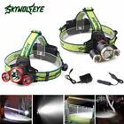 30000LM LED Headlight Flashlight Torch 3x XM-L T6 Headlamp 18650 Head Light Lamp