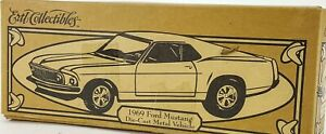 Ertl Die Cast Metal 1969 Ford Mustang Vehicle Yellow Coin Bank #03 Napa 1/25