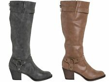 Rocket Dog Synthetic Leather Knee High Boots for Women