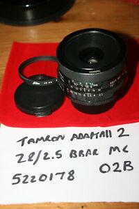Tamron Adaptall 2 28mm F2.5 Manual Focus Lens, Model 02B with M42 Mount - FUNGUS