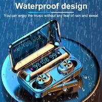 New Waterproof Bluetooth5.0 Earbuds Headphone Wireless Headset Noise Cancelling