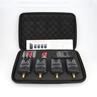 Set of 4 Wireless Bite Alarms + Receiver + Protective zip up case