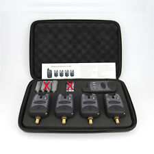 Set of 4 Wireless Bite Alarms + Receiver + Protective zip up case