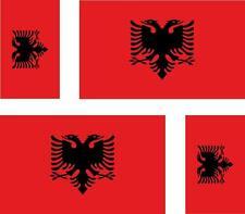4 x albania albanian flag decals sticker bike scooter car vinyl luggage helmet
