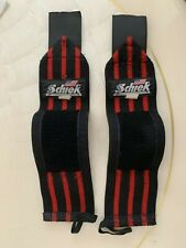 Schiek Weight Training Lifting Protective Gym Wrist Wraps - Red/Black - 11 inch