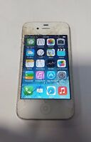 Apple iPhone 4 8GB White Sprint Fair Condition Cracked Glass Clean iCloud Works!