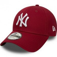 Cappellino Visiera Curva New Era NewYork Yankees Rosso Bordeaux Cardinal Unisex