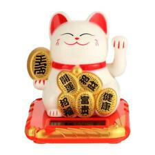 Chinese Lucky Cat Wealth Waving Shaking Hand Fortune Welcome Craft White Shop
