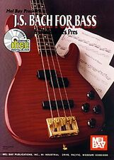 J S Bach For Bass Play Classical Songs GUITAR Mel Bay Music Book Online Audio
