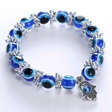 Fashion Blue Evil Eye Bead Protection Good Luck Bracelet Turkish Hand Bangle Hot