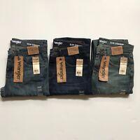 NWT Wrangler Men's Advanced Comfort Slim Straight Denim Jeans Pants All Sizes
