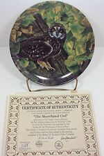 The Stately Owls Short Eared Owl Bradford Exchange Plate #5