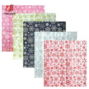 10sheet Tissue Paper Wrapping Snowflake DIY Craft Gift Box Packing Decor Supplie