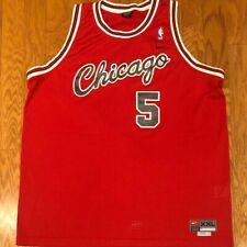 Good Vintage Nike Sewn Swingman Jalen Rose Chicago Bulls Script Jersey sz 2XL