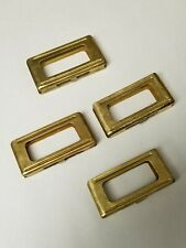 ORIGINAL ITALIAN  CARCANO BRASS STRIPPER CLIPS 6 ROUNDS. SET OF 4 PIECES