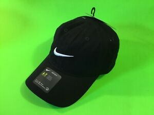 New NIKE Youth Unisex Snapback Hat 4-7 Years Old Black w/White 100% Cotton