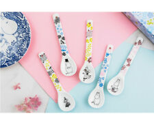 Moomin Valley Characters Little My Snufkin Snork Ceramic 5 Spoon Set New