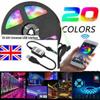 3 Ways Bluetooth APP LED Controller 5V-24V Wireless Dimmer For RGB LED Strip Uk-