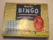 Magic Box Bingo Vintage Game Regal Games 1950s COMPLETE