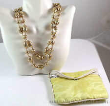 RARE MING'S HAWAII 2PC 14K YELLOW GOLD OVAL AND BALL NECKLACE W/  RECEIPT