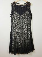 [ ANTHEA CRAWFORD ] Womens Black Lace Sleeveless Dress | Size AU 14 or US 10