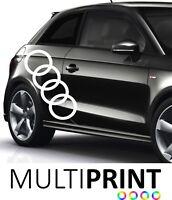 Audi Sticker Graphic Vinyl Decal  A1 A3 Logo Car Racing Side Stripe AUD1